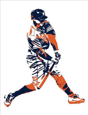 Astros Mixed Media - George Springer Houston Astros Pixel Art 3 by Joe Hamilton