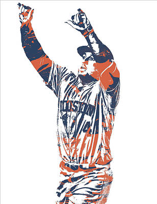 Mixed Media - George Springer Houston Astros Pixel Art 31 by Joe Hamilton