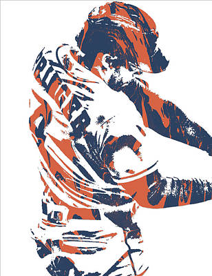 Mixed Media - George Springer Houston Astros Pixel Art 32 by Joe Hamilton