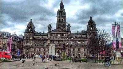 Photograph - George Square Glasgow 2 by Joan-Violet Stretch