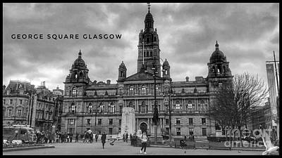 Photograph - George Square Poster by Joan-Violet Stretch