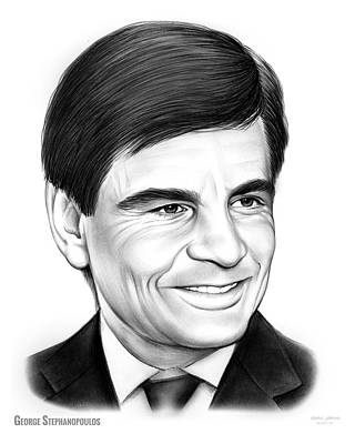 George Drawing - George Stephanopoulos by Greg Joens