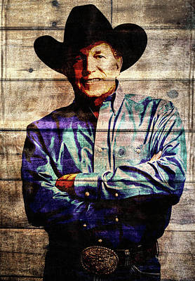 Mixed Media - George Strait by Dan Sproul