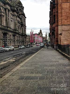 Photograph - George Street Glasgow by Joan-Violet Stretch