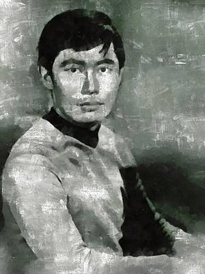 Elvis Presley Painting - George Takei, Sulu From Star Trek Vintage by Mary Bassett