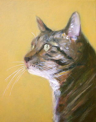 Painting - George The Cat by Kazumi Whitemoon