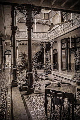 Photograph - George Town, Penang, Malaysia - Atrium Of The Blue Mansion, Silverplate by Mark Forte