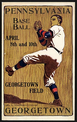 Royalty-Free and Rights-Managed Images - George Town - Baseball - Pennsylvania - Vintage Advertising Poster by Studio Grafiikka