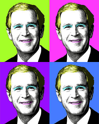 George Bush Digital Art - George W Monroe X 4 by Gary Hogben