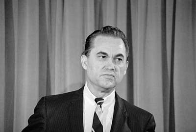 Photograph - George Wallace - February 8, 1968 by War Is Hell Store