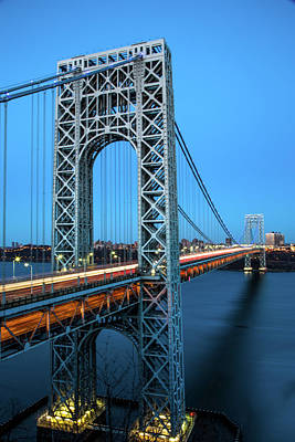 Politicians Royalty-Free and Rights-Managed Images - George Washingto Bridge by John Dryzga