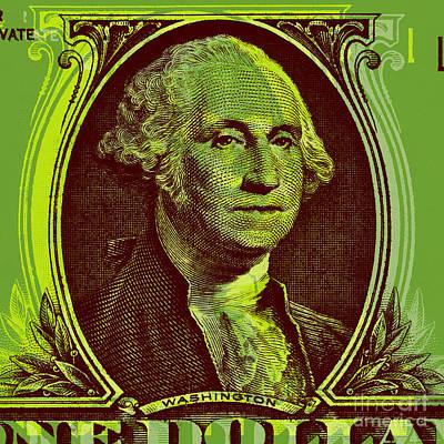 Politicians Digital Art - George Washington - $1 bill by Jean luc Comperat