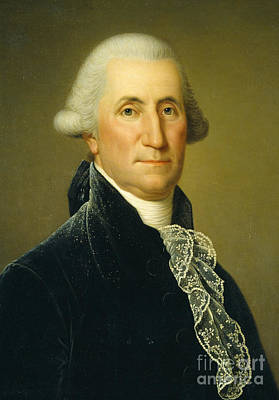 Constitution Painting - George Washington, 1795 by Adolf Ulrich Wertmuller