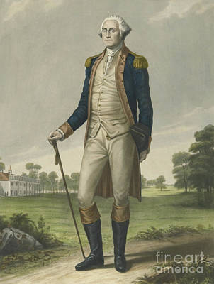 Mount Vernon Painting - George Washington, 1859 by Hezekiah Wright Smith