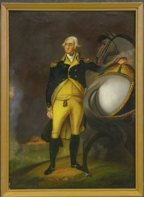 Man And His Horse Painting - George Washington And His Horse by MotionAge Designs