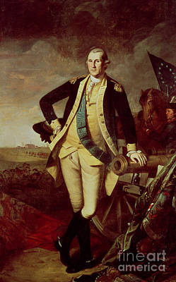 Continental Army Painting - George Washington At Princeton by Charles Willson Peale