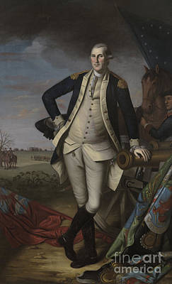 Painting - George Washington At The Battle Of Princeton, 1781  by Charles Willson Peale