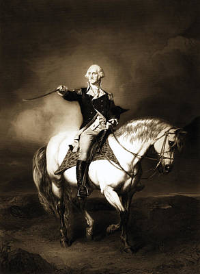 Drawing - George Washington At Trenton by Carlos Diaz