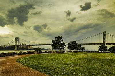 Photograph - George Washington Bridge After The Rain by Jorge Perez - BlueBeardImagery