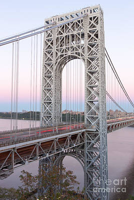 Photograph - George Washington Bridge And Traffic by Clarence Holmes