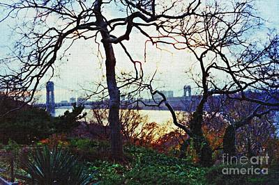 Politicians Royalty-Free and Rights-Managed Images - George Washington Bridge at Sunset by Sarah Loft
