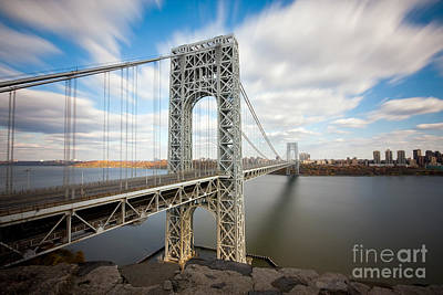 Times Square Photograph - George Washington Bridge by Greg Gard