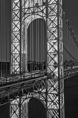 Photograph - George Washington Bridge Gwb Bw by Susan Candelario