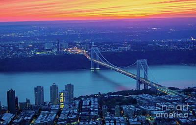 George Washington Photograph - George Washington Bridge by Inge Johnsson