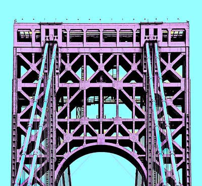 Photograph - George Washington Bridge Tower New York by Phil Cardamone