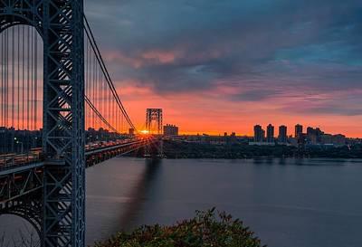Politicians Digital Art - George Washington Bridge by Super Lovely