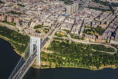 Gwb Photograph - George Washington Bridge Upper Manhattan by Susan Candelario