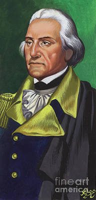 Painting -  George Washington Gouache On Paper by Ron Embleton