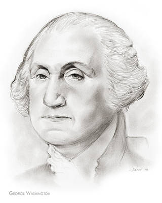 Presidents Drawing - George Washington by Greg Joens