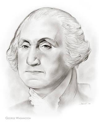 Politicians Drawings - George Washington by Greg Joens