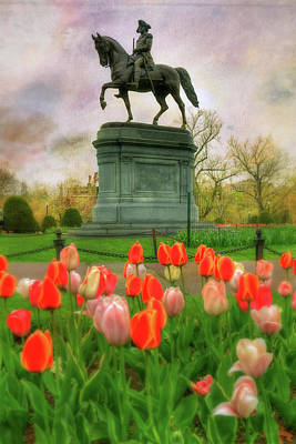 Politicians Royalty-Free and Rights-Managed Images - George Washington in the Boston Public Garden by Joann Vitali