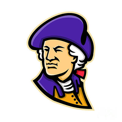 Politicians Digital Art - George Washington Mascot by Aloysius Patrimonio