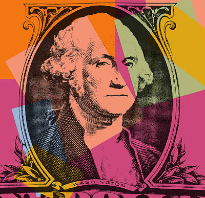 George Washington Mixed Media - George Washington Pop Art by Dan Sproul