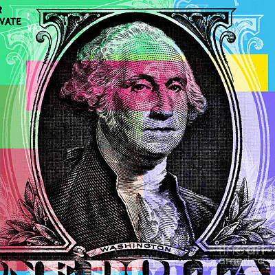 Digital Art - George Washington Pop Art by Jean luc Comperat