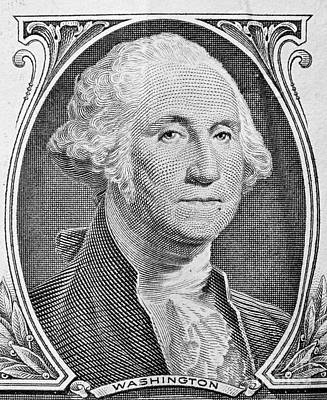 Banking Photograph - George Washington Portrait On One Dollar Bill by Michal Bednarek