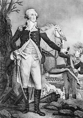 Photograph - George Washington Posing by Douglas Barnett