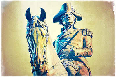 Photograph - George Washington Rides Thru Boston by Mike Martin