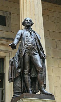Photograph - George Washington Sculpture Federal Hall by Allen Beatty