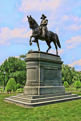 Photograph - George Washington Statue - Boston by Allen Beatty
