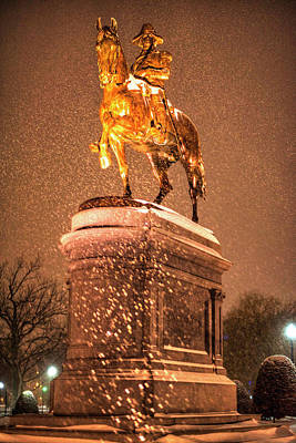 Photograph - George Washington Statue Boston Public Garden Boston Ma by Toby McGuire