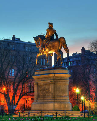 Art Print featuring the photograph George Washington Statue In Boston Public Garden by Joann Vitali