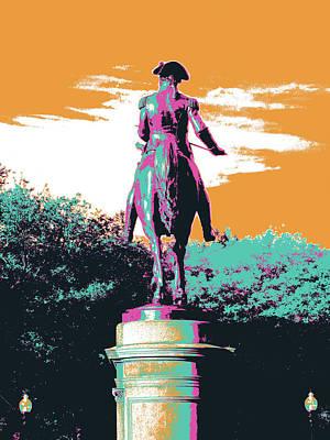 General Washington Mixed Media - George Washington Statue by Shay Culligan