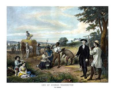 George Washington Wall Art - Painting - George Washington The Farmer by War Is Hell Store