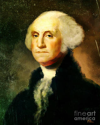 Digital Art - George Washington by Tina LeCour