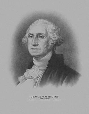 Mixed Media Royalty Free Images - George Washington Royalty-Free Image by War Is Hell Store