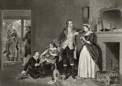 First-family Drawing - George Washington's First Interview With Mrs Martha Custis by Alonzo Chappel